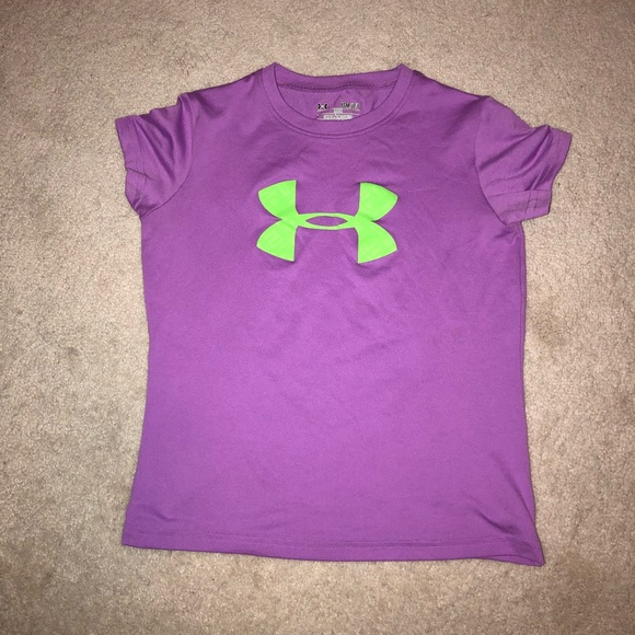 New Girls Under Armour Lilac Shirt.